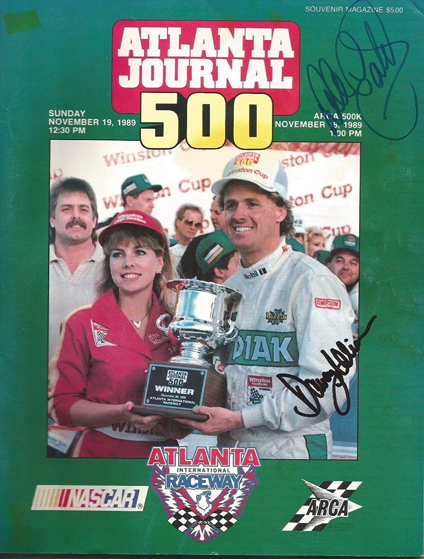 1989 Dale Earnhardt Sr & Davey Allison 4x Dual Signed Atlanta Journal Magazine - Autographed NASCAR Magazines