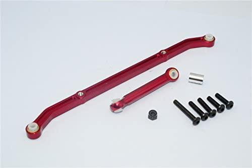 GPM Axial SCX10 Upgrade Parts Aluminum Tie Rod - 1 Set Red