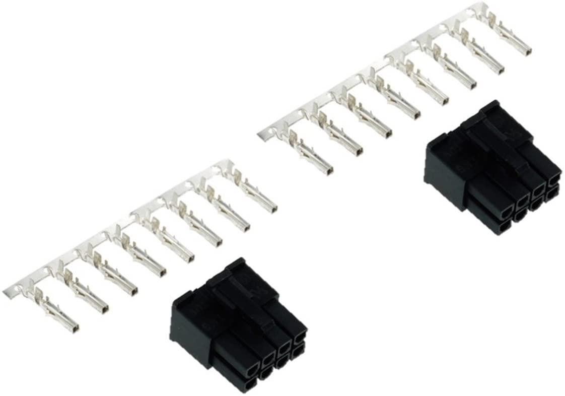 Phobya ATX Power Connector 8 Pin, Male, Black, 2-Pack