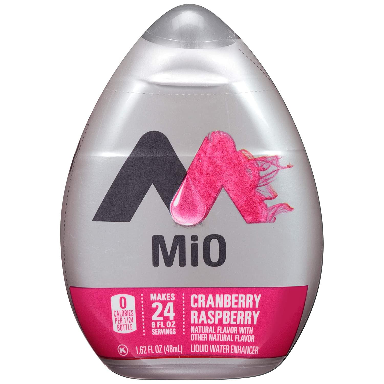 MiO Cranberry Raspberry Liquid Water Enhancer Drink Mix (1.62 fl oz Bottles, Pack of 12)