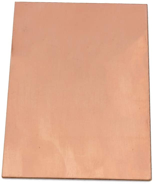 XueMing T2 Copper Strip Red Copper Pad 99.9% Copper Foil Copper Plate DIY Material 200Mmx300mm,Thickness:3mm