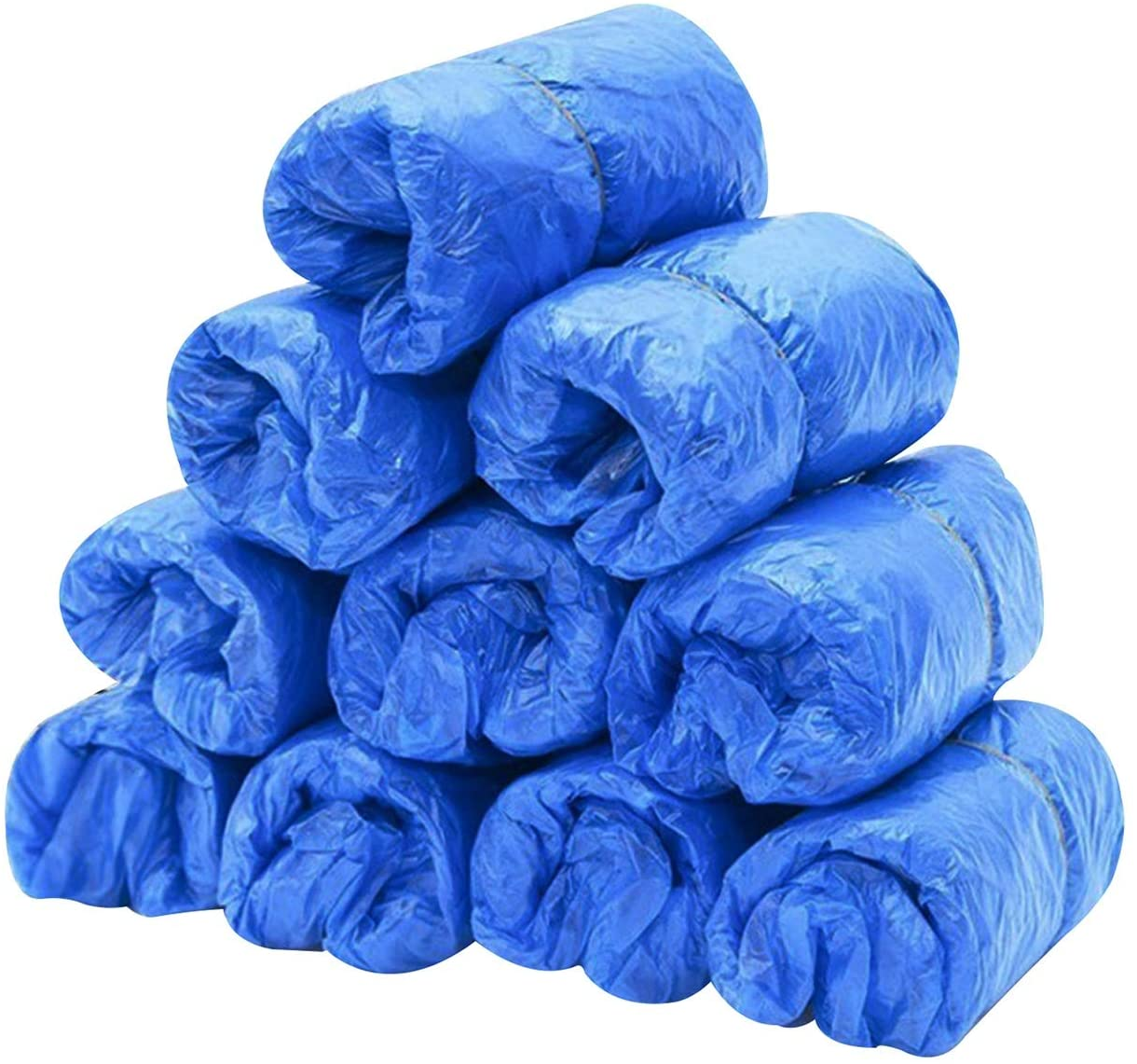 Disposable Shoe & Boot Covers for Construction, Workplace, Indoor Carpet Floor Protection,One Size (100, CPE)