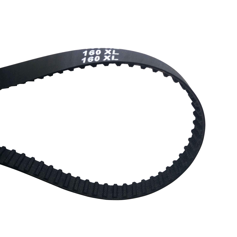 160XL Black Timing Belt 3/8