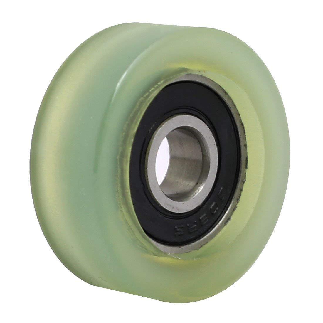 MroMax Roller Idler Bearing Pulley Sliding Conveyor Wheel Clear 1Pcs 8mmx32mmx12mm