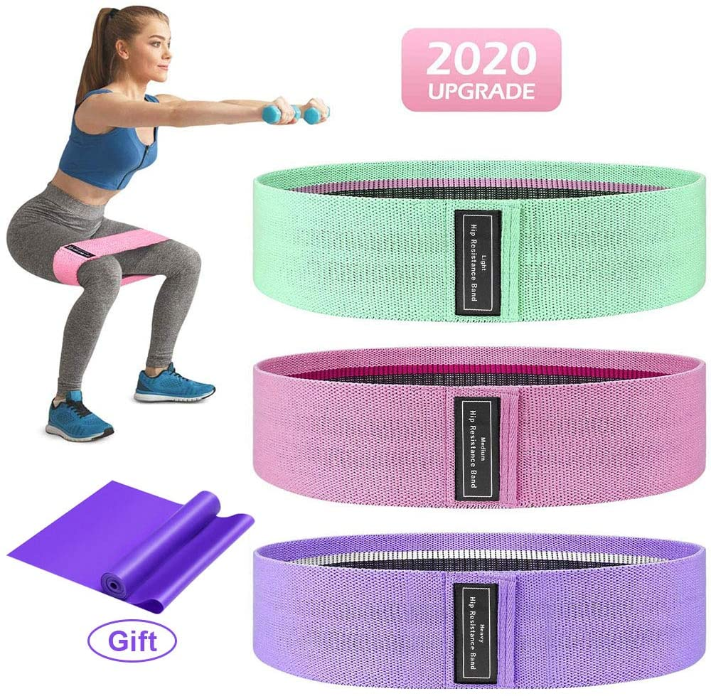 Aottom Resistance Bands Set, Exercise Bands for Women, 3 Resistance Level Workout Booty Bands Non Slip Fitness Bands Legs Butt Hips Exercise Loop Circle Bands for Yoga, Pilates, Muscle Training, Gym
