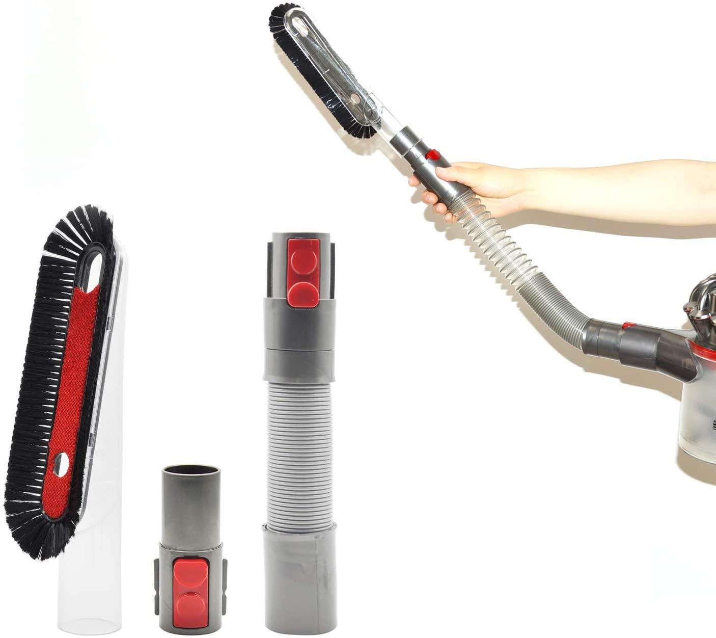 EZ SPARES Replacement Brush Kits for V7 V8 V10 V11,Soft Dusting Brush Crevice Tool,Extension Hose,Anti-Static Attachment