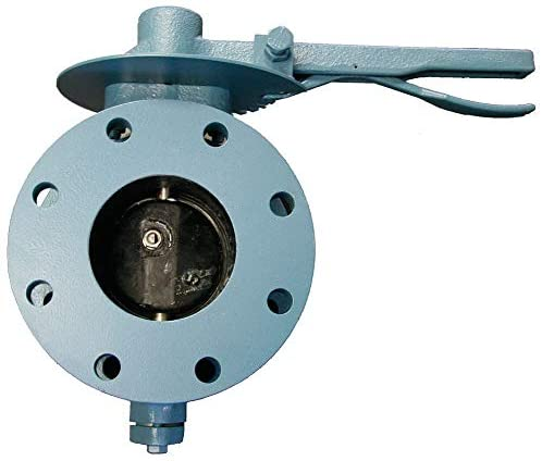Flanged-Style Butterfly Valve, Cast Iron ASTM A126, 150 psi, 10
