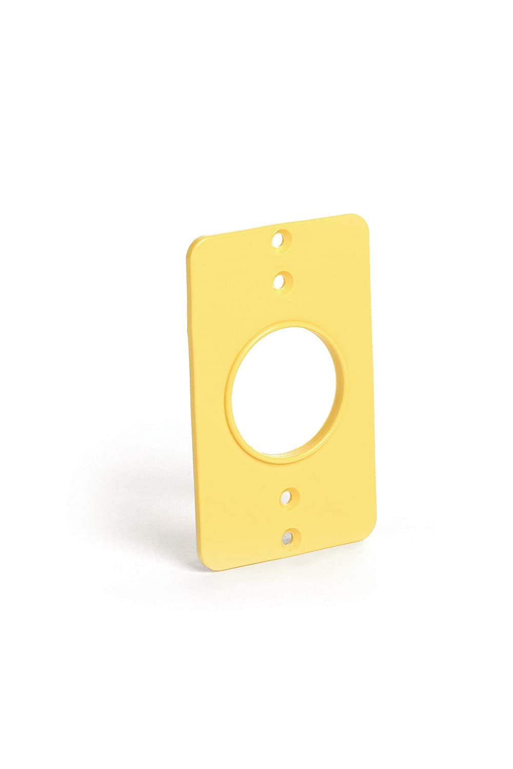 Woodhead 3052 Super-Safeway Outlet Box Coverplate, Single Receptacle Opening, 1.39