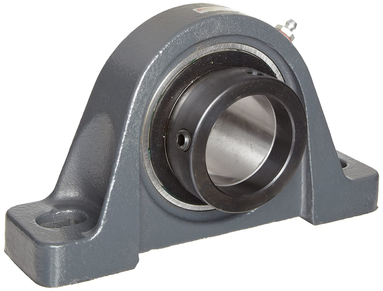 Browning VPE-212 Pillow Block Ball Bearing, 2 Bolt, Eccentric Lock, Contact and Flinger Seal, Cast Iron, Inch, 3/4