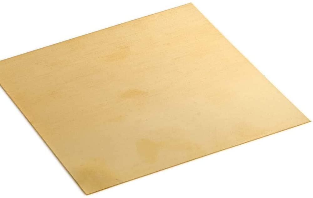 LOKIH Brass Sheet Percision Metals Raw Materials,2x200x200mm