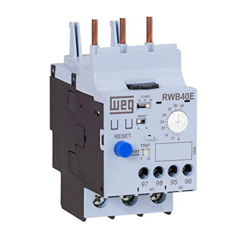 WEG Electric RWB40E-3-A4U025 Thermal Magnetic Overload Relay, 5-25 Amp Range, for Use with CWB9-CWB38 Contactors