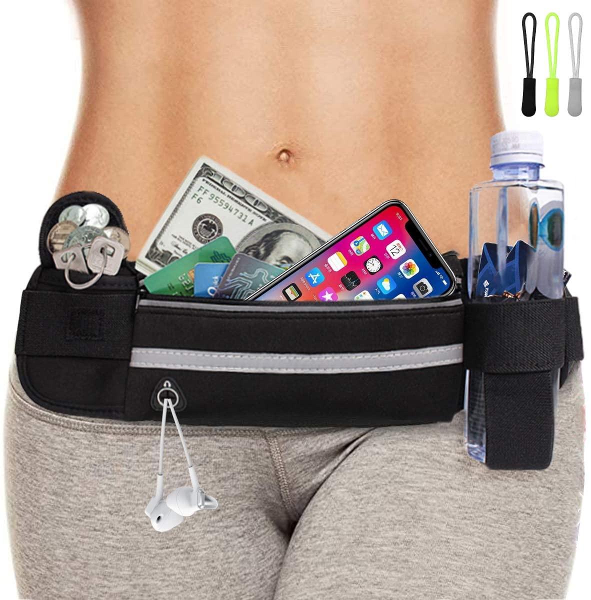 Running Belt Slim Running Fanny Pack for Phone Running Waist Belt Water Bottle Belt