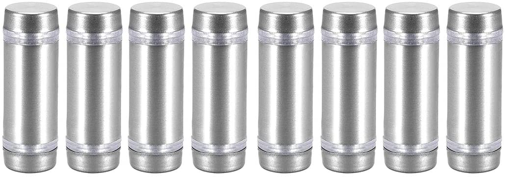 uxcell Glass Standoff Double Head Stainless Steel Standoff Holder 12mm X 37mm 8 Pcs