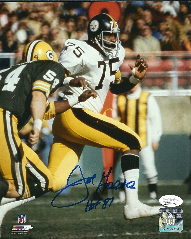 Autographed JOE GREENE 8X10 Pittsburgh Steelers Photo JSA - Autographed NFL Photos