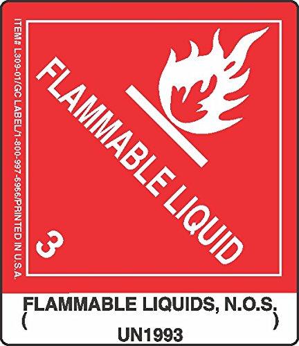 GC Labels-L309P02, Flammable Liquids, N.O.S. ( ) UN1993, Roll of 500 Labels