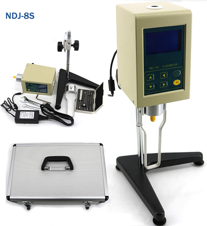 Digital Rotary Viscometer 1-2000000 mPa.s Digital Viscosity Meter Tester NDJ-8S Testing Machine Viscometer Digital Display For Paint Salads or Dips Testing