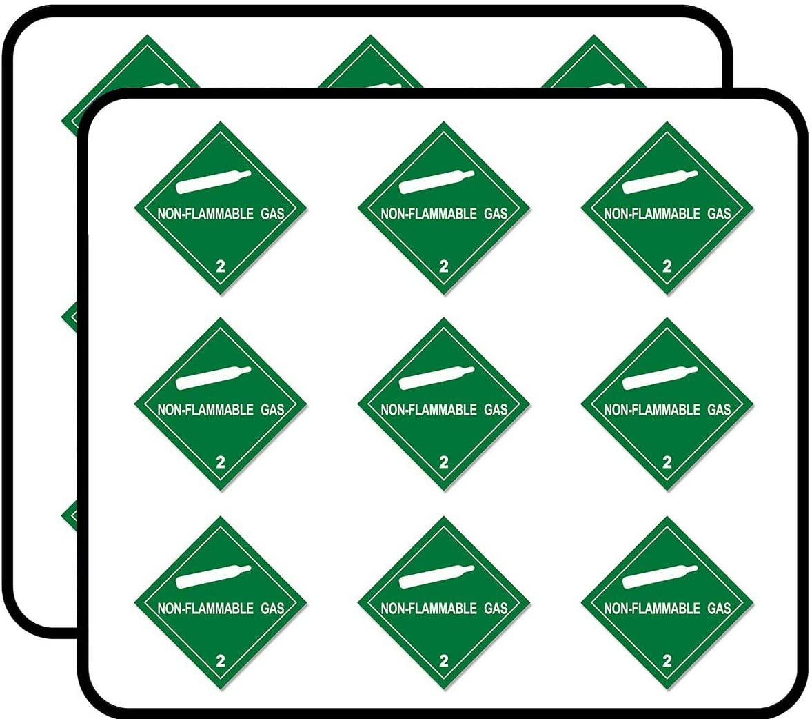 Green Diamond Non Flammable Gas 2 (Business Safety Safe) Sticker for Scrapbooking, Calendars, Arts, Album, Bullet Journals 2