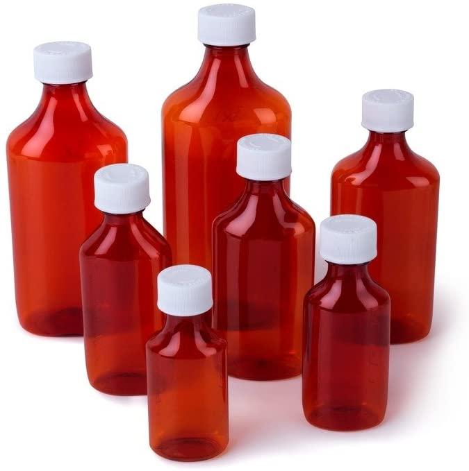 Ezy Dose Liquid Medicine Bottles   3 Oz Storage   Child-Resistant Cap   Case of 110