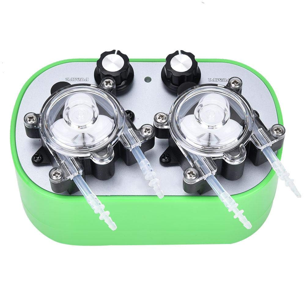 100-240V Automatic Mini Peristaltic Pump,Double Pump Heads Three Planetary Gears Self-Priming Pump, Optional ModelsG728-2-1, G728-2-2, G728-2-3((40~160ml/min)2(G728-2-3)-US)