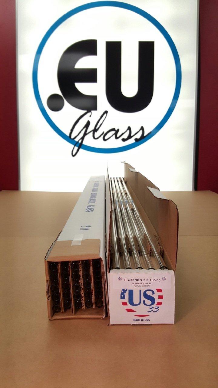 US-33: 16 X 2.5 Borosilicate Tubing (CASE) (25, 16 X 2.5)