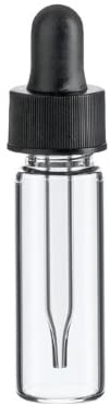 1 Dram CLEAR Glass Vial - Dropper - Pack of 72