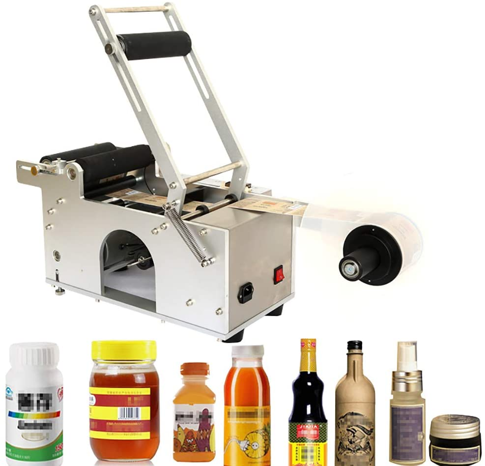 Semi-Automatic Round Bottle Labeler Labeling Machine LT/MT-50