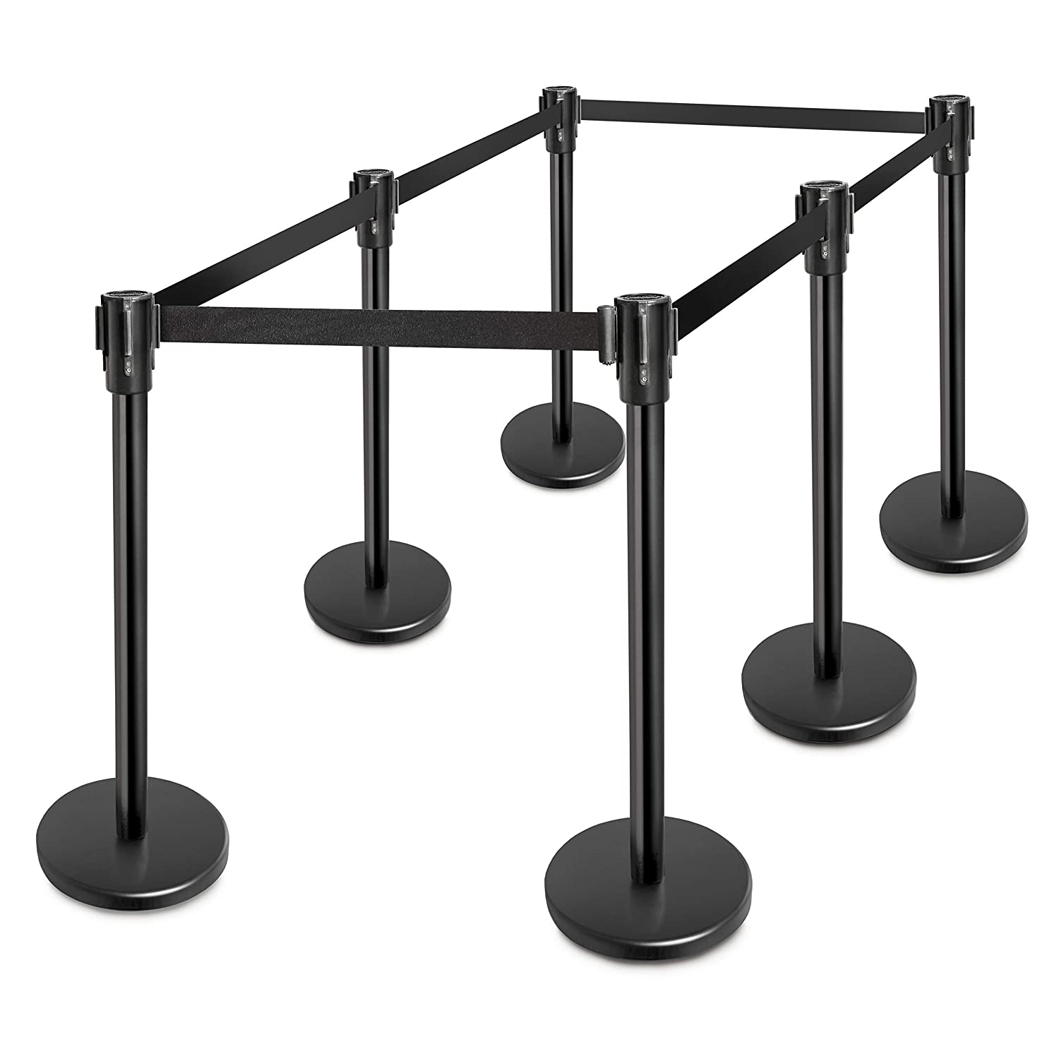 New Star Foodservice 54644 Black Powder Coated Stanchions, 36