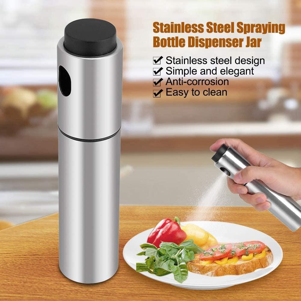 Aeloa Oil Sprayer Dispenser Stainless Steel Olive Oil Spraying Bottle for Kitchen,Cooking,Salad,Bread Baking,BBQ
