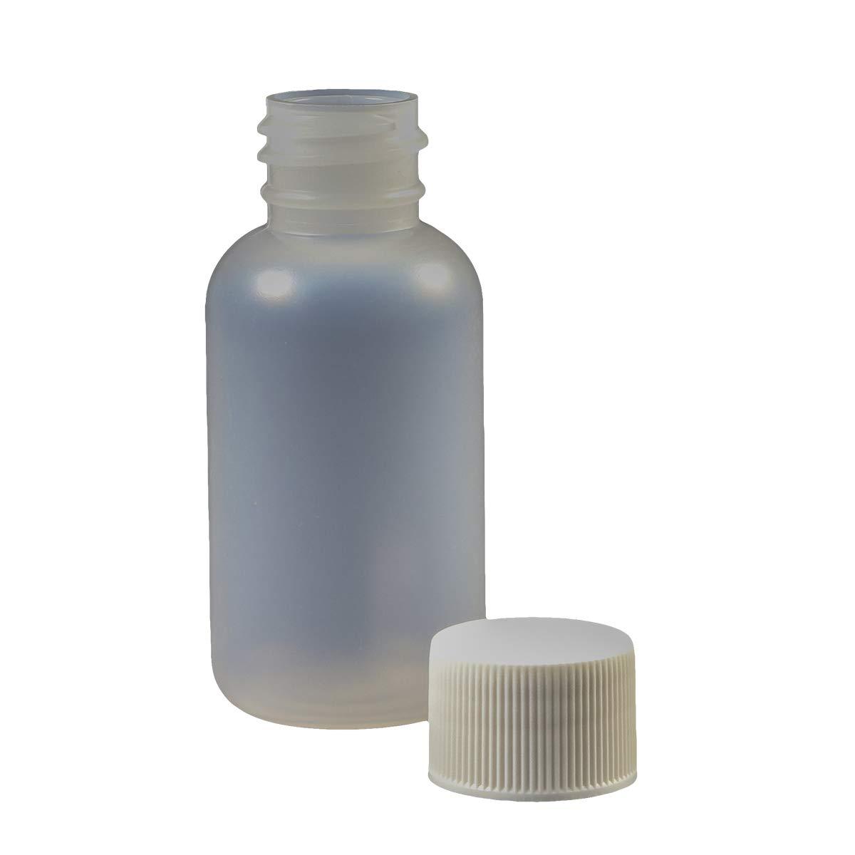 Jensen Global JG1.0BC-CC 1.0 oz Boston Round Bottle and Closed Cap Bag of 10