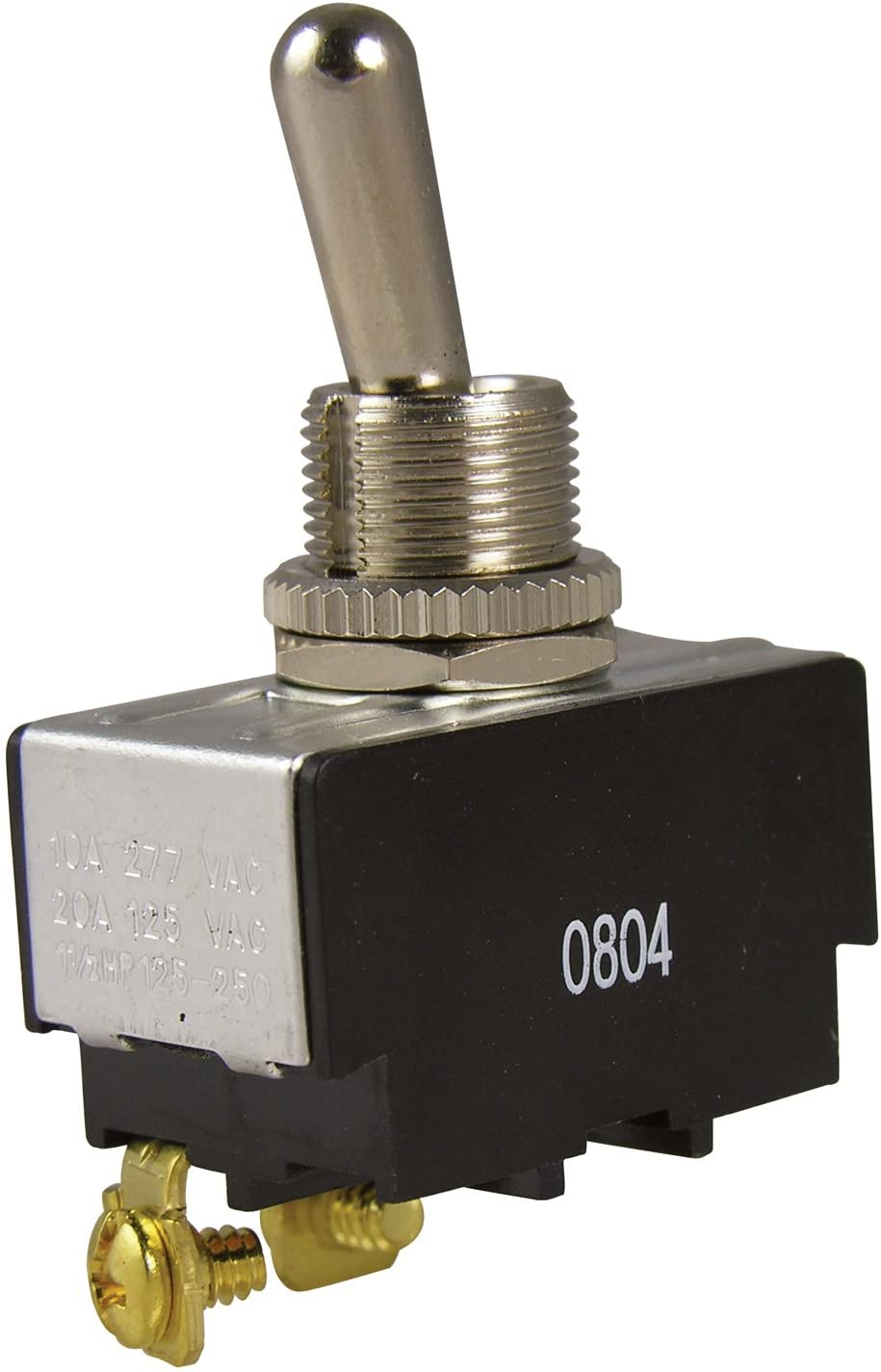 Gardner Bender GSW-10 Electrical Toggle Switch, SPST, ON-OFF, 20 A/125V AC, Screw Terminal