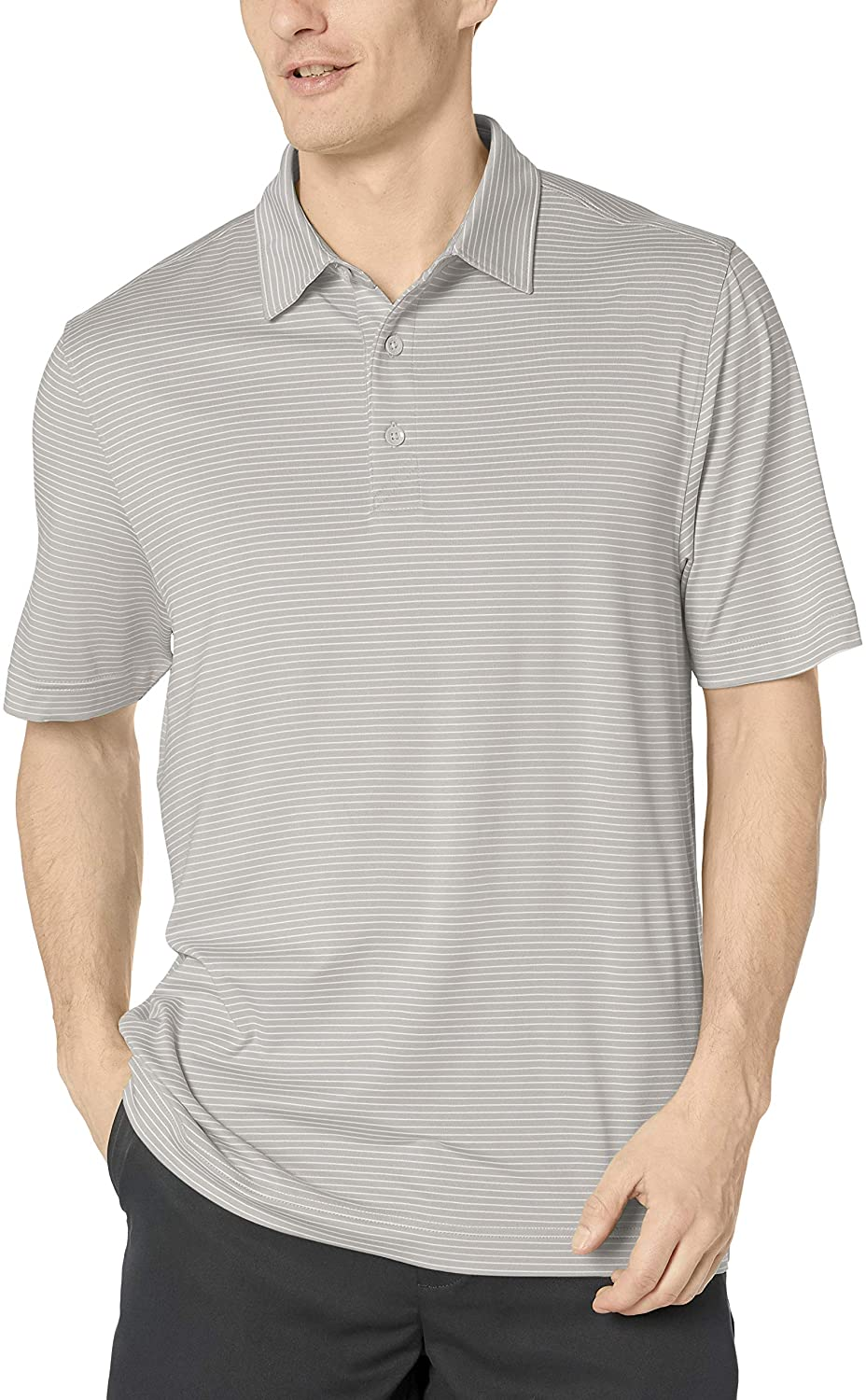 Cutter & Buck Men's Moisture Wicking UPF Drytec Forge Pencil Stripe Polo Shirt