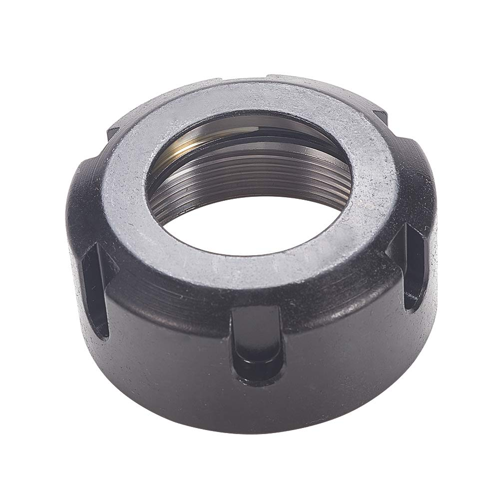 MroMax 1Pcs M40x1.5mm Retaining Four-Slot Slotted Round Nuts Made of Cast Steel Material Black
