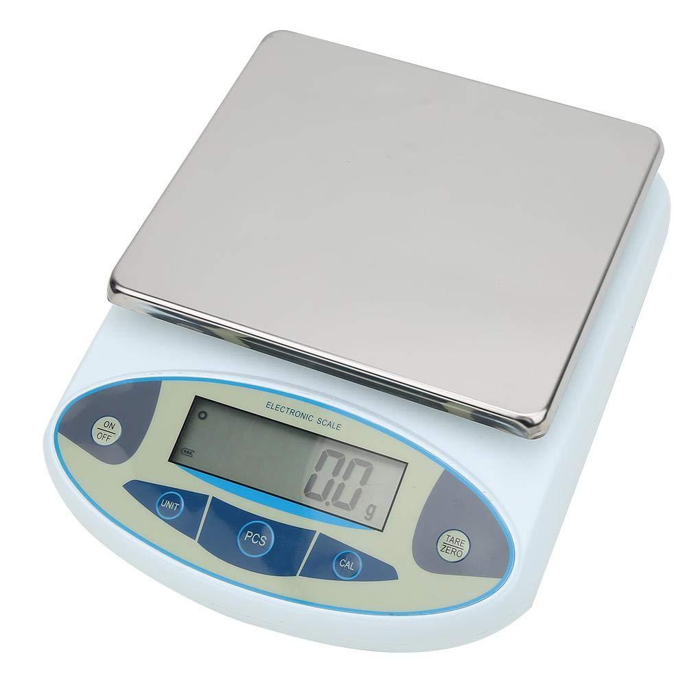 Electronic Balance, 10kg 0.1g Digital Analytical Balance Lab Precision Scale 100-240V(US Plug)