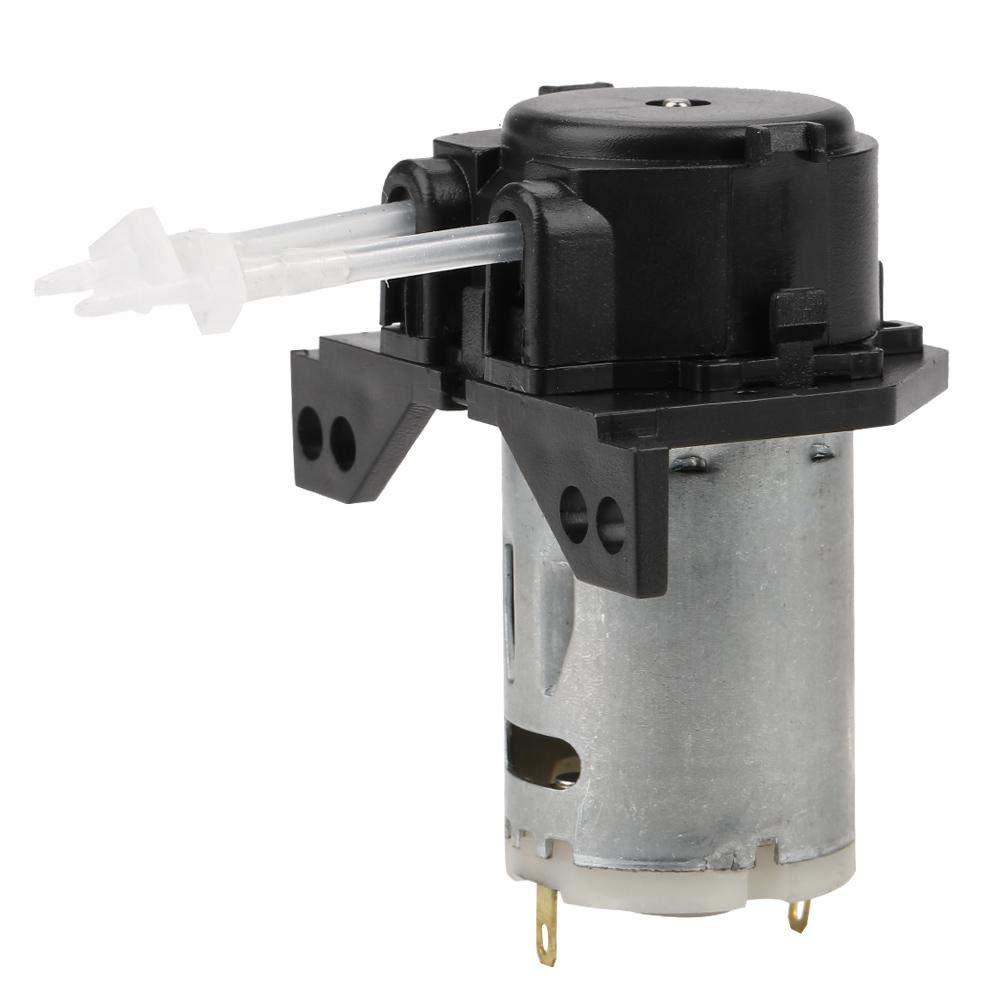 DC12V/24V Peristaltic Pump,Dosing Pump,Peristaltic Tube Head,for Experimental, Biochemical Analysis, Pharmaceuticals, Fine Chemicals, Biotechnology(12v 13-Black)