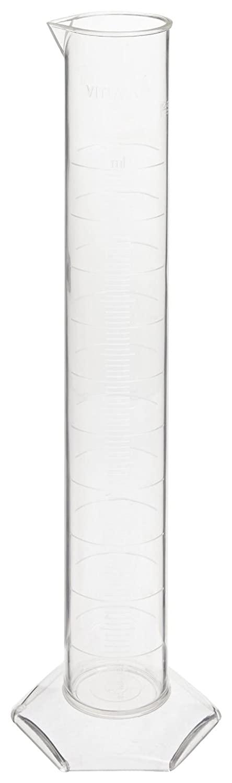 Vitlab SAN Graduated Cylinder, Class B, Molded Graduation, 10mL Capacity (Pack of 12)