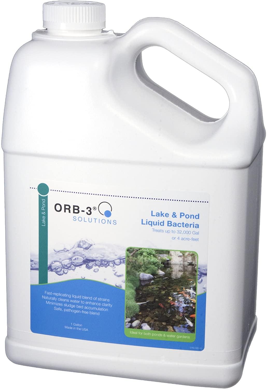 Orb-3 Lake and Pond Liquid Bacteria Jug, 1-Gallon