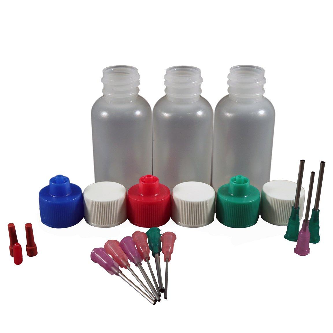 Jensen Global Henna Kit with 1 oz Bottle & Blunt Dispensing Tips. (Non sterile/Non Medical)