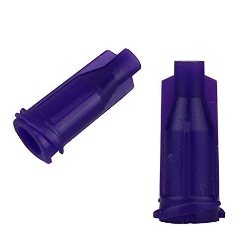 Luer Lock Syringe Tip Caps Screw Threads Dispensing Stop Caps 1000 Pieces (Purple)