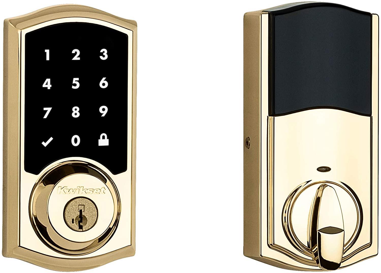 Kwikset 99160-019 SmartCode 916 Z-Wave Plus Touchscreen Deadbolt Polished Brass