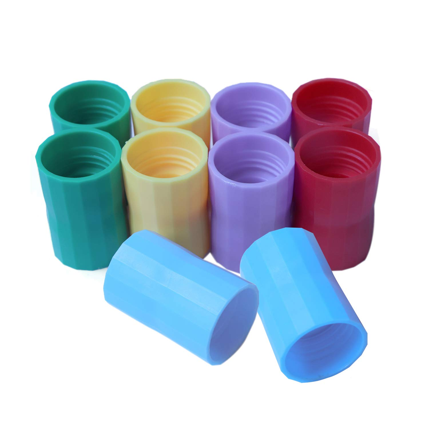 SPWOLFRT 10 Pieces Tornado Tube Bottle Connector Plastic Vortex Maker Cyclone Tube Toy Tornado in A Bottle Connector for Scientific Experiment and Test, 5 Colors (Random)