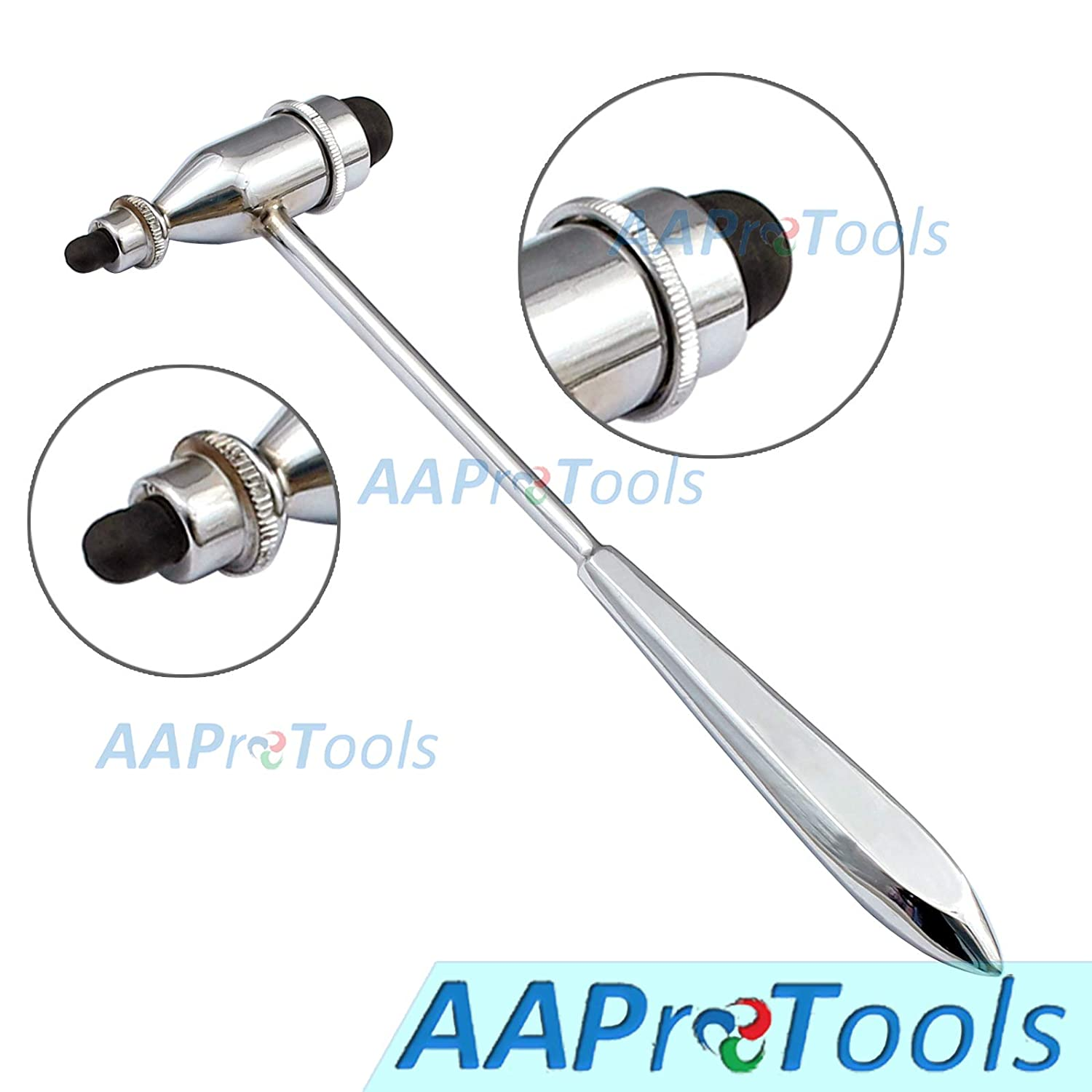 AAProTools Reflex Hammer, Neurological Reflex Hammer with Pointed Tip Handle, for Neurologic Reflex Diagnosis and Testing