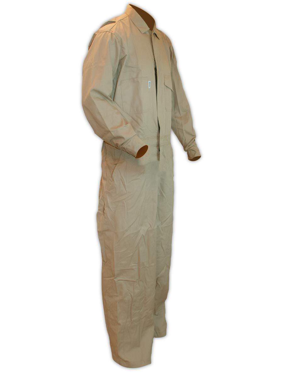 Magid Glove & Safety Dual Hazard 7 oz. FR 100% Cotton Coveralls, Arc Flash & Flash Fire Protection, Khaki, 4XL (9 Coveralls)