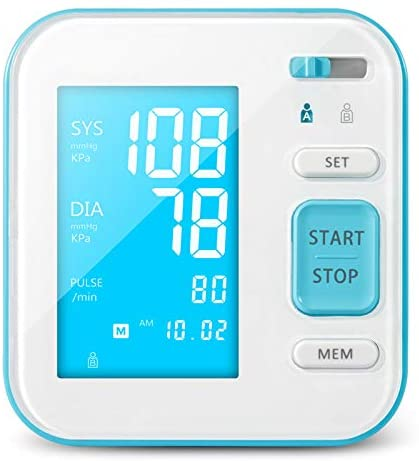 True Integral Blood Pressure Monitor Upper Arm - Fully Automatic Blood Pressure Machine Large Cuff Kit Voice Notification, Upper Arm Cuff, Heart Rate Pulse, Set Also Comes with Tubing and Device Bag -