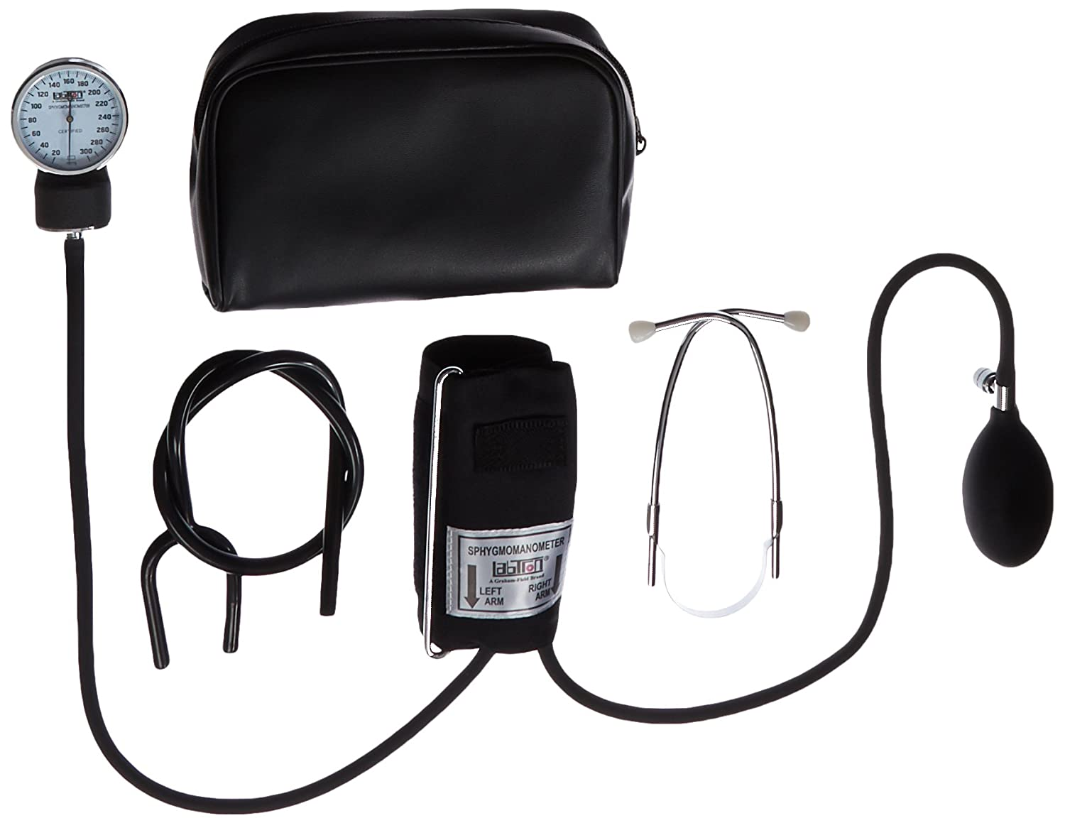 Labtron 242 Home Blood Pressure Kit with Attached Stethoscope, Adult