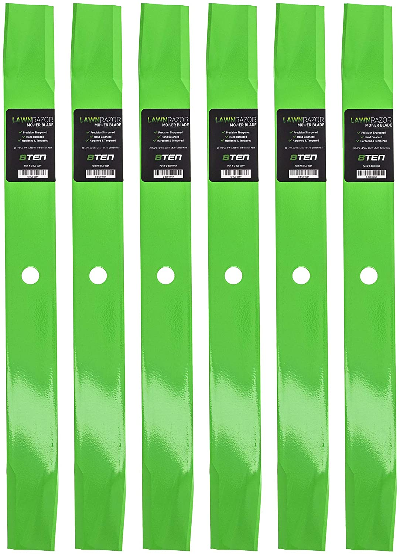 8TEN LawnRAZOR Hi Lift Blade 60 Inch Deck for Gravely Promaster 250Z 300 08781800 08899000 08979600 08904600 6 Pack