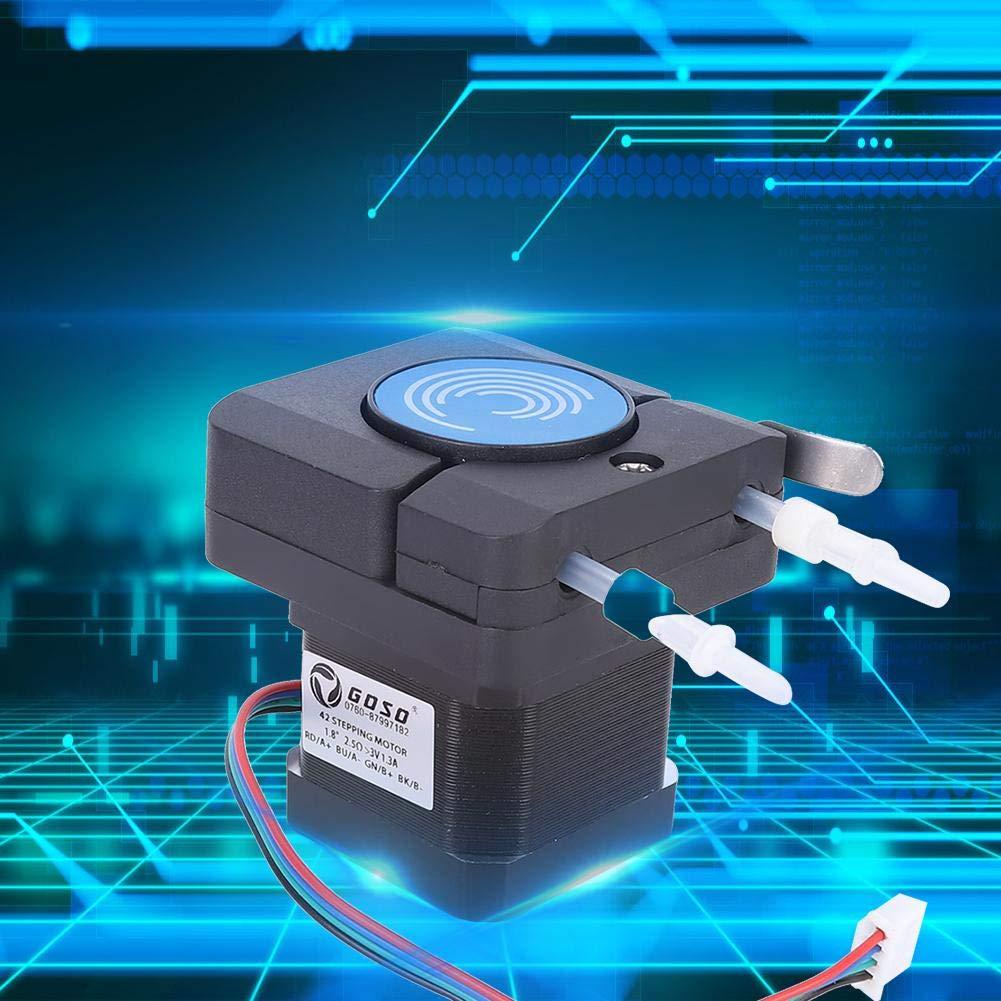 Peristaltic Pump, Large Flow Micro Anti-Corrosion Peristaltic Pump Dosing Pump 6-24V with 42 Stepper Motor