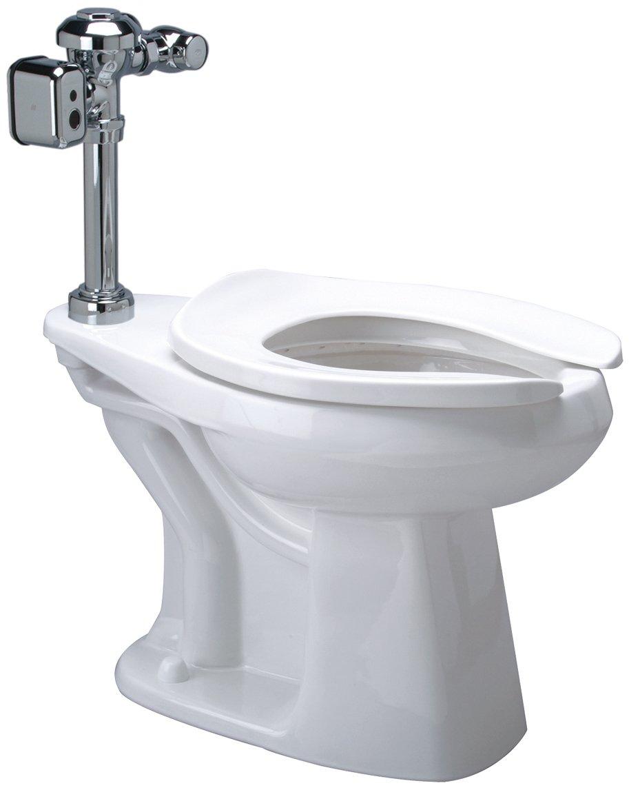 Zurn Z5665.272.00.00.00 1.28 gpf Floor Mount Elongated Toilet System with Top Spud, Diaphragm Hardwired Integral Sensor Valve