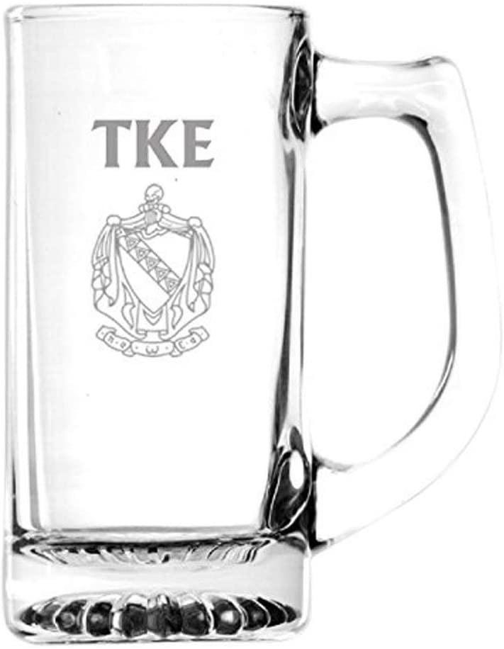 Tau Kappa Epsilon TKE Glass Engraved Mug Transparent