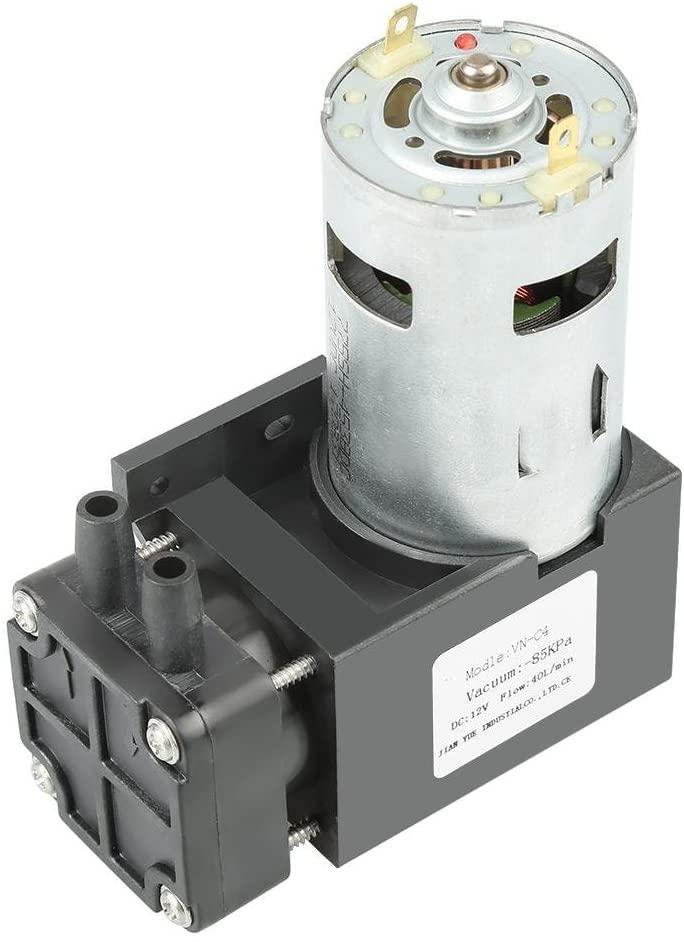 Vacuum Pump DC12V 42W Mini Small Oilless Vacuum Pump -85KPa Flow 40L/min