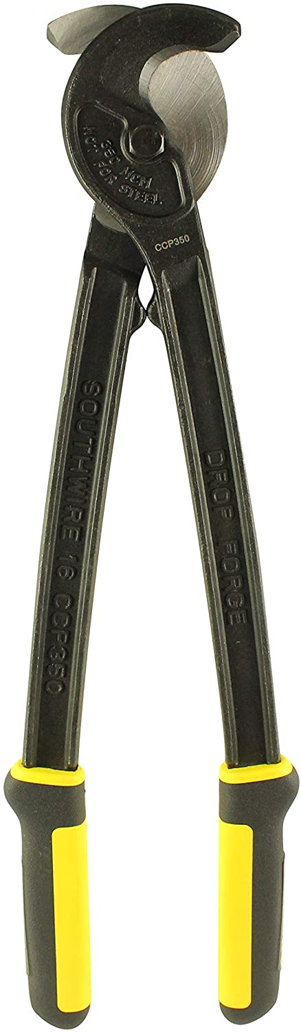 Southwire Tools & Equipment CCP350 Utility Cable Cutter with Comfort Grip Handles, 16-Inch